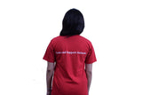 Your Place Quote - Unisex Round Neck - Red - TShirt - Back View