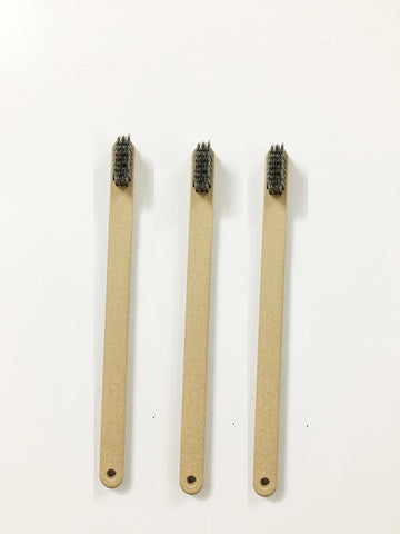 Set Of 4 Bamboo Charcoal Bristles Toothbrush In Ultra Soft