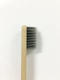 Set of 2 Bamboo Charcoal Bristles and Wheatstraw Handle Toothbrush In Ultrasoft