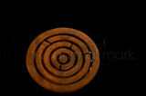 3 Inches Rose Wood Maze Game For All Ages In Circle Shape