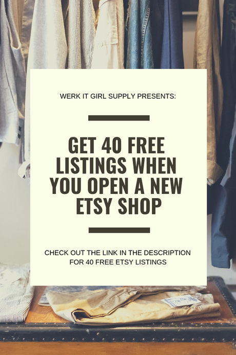 Join Etsy - Get 40 Free Listings!