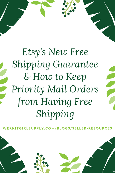 Etsy's New Free Shipping Guarantee - How to Keep Priority Mail Orders from Being Free