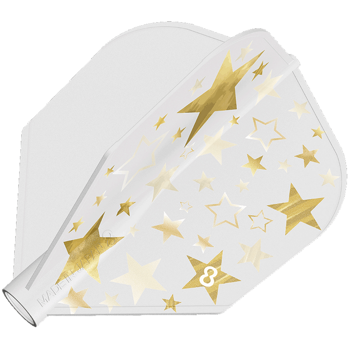 8 Flight Gold Star Solid White Shape