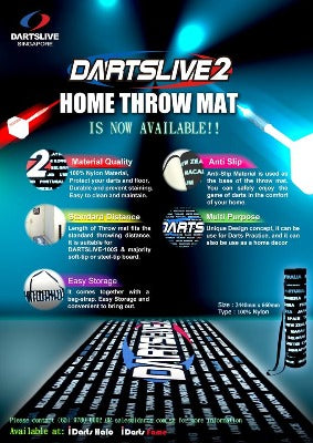 DARTSLIVE Home Throw Mat