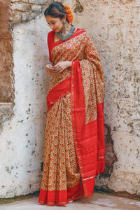 Beautiful Multi Color Linen Digital Printed Saree MS-1110