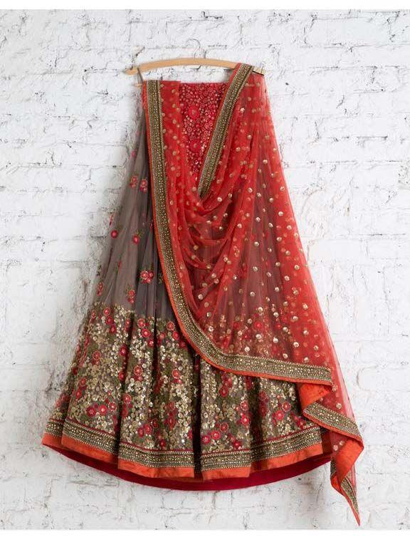Awsome Multi Color Embroidered Semi-stitched Party Wear Lehenga Choli
