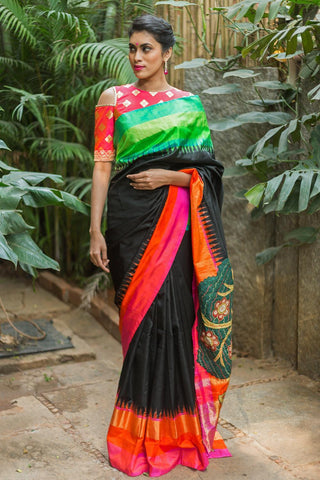 Beautiful Partyware Multi colour Linen Digital printed Saree MS-1100