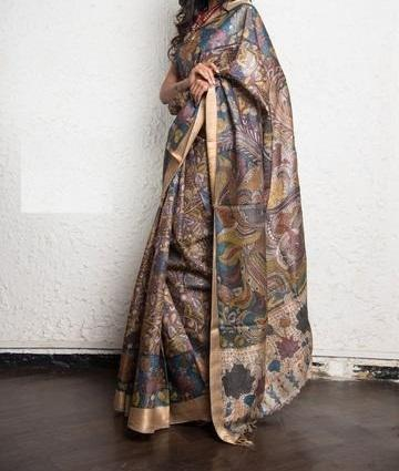 Awsome Multi Color Digital Printed Saree MS-1010