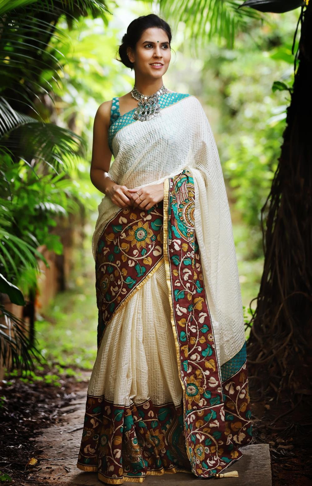 Beautiful Off White Color  Linen Digital Printed Saree MS-1081
