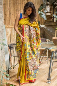 Alluring Yallow Color Lenen Digital Printed Saree MS-1060