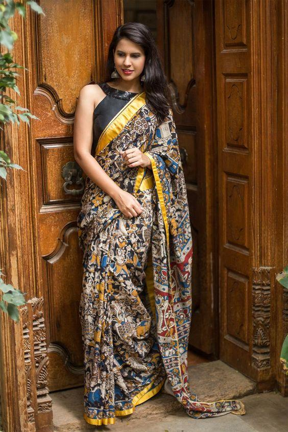 Beautiful Multi Color Linen Digital Printed Saree MS-1059