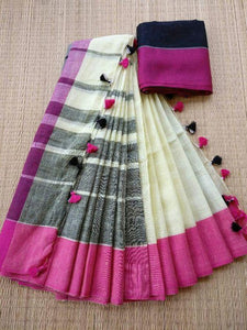 Linen Digital Printed Saree MS-11228