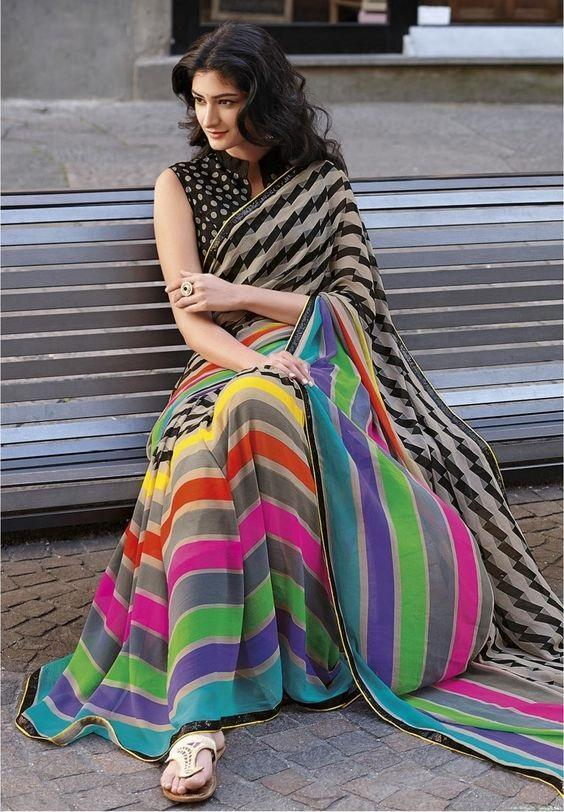 Linen Digital Printed Saree MS-11271