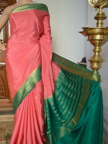 Beautiful Colour Soft Silk Designer Saree UK1341