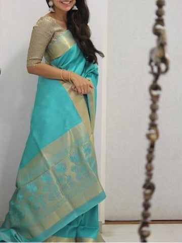Awosome Colour Soft Silk Designer Saree UK1371