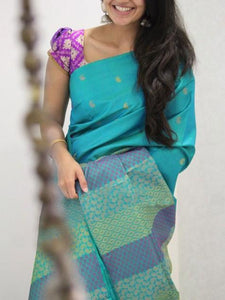 Beautiful Soft Silk Designer Saree UK1402