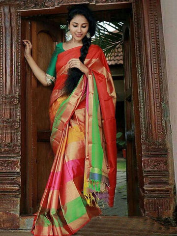 Awesome  Colour Soft Silk Designer Saree UK30305