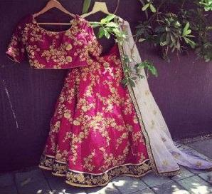 Outstanding Pink Colour Wedding Wear Embroidery Lehenga Choli