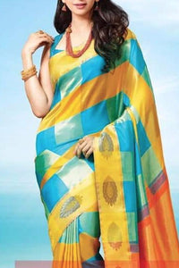Boxed Mix Colour Soft Silk Designer Saree UK30021
