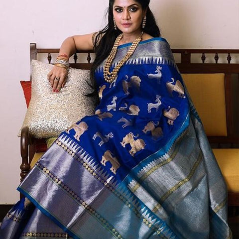 Awesome Multi Colour Soft Silk Designer Saree UK2293