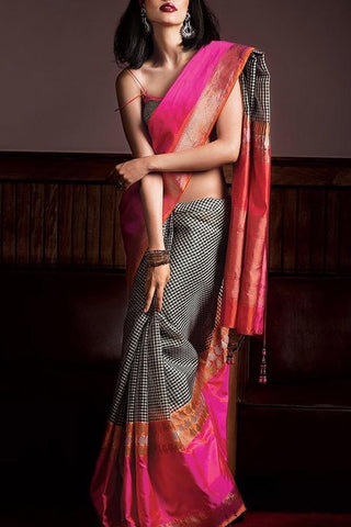 Beautiful Colour Soft Silk Designer Saree UK30029