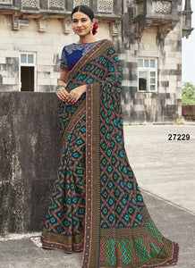 Blue Colour Soft Silk Designer Saree UK30047
