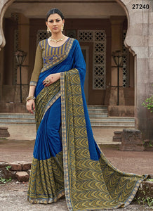 Blue  Colour Soft Silk Designer Saree UK30055