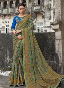 Awosome  Colour Soft Silk Designer Saree UK30062