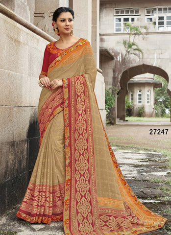 Beautiful Colour Soft Silk Designer Saree UK30063
