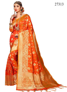 Awosome  Colour Soft Silk Designer Saree UK30066