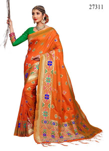 Beautiful  Colour Soft Silk Designer Saree UK30067