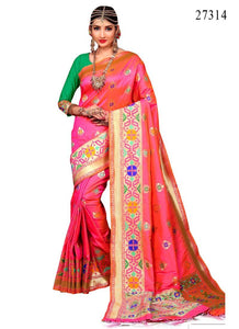 Awosome Colour Soft Silk Designer Saree UK30069