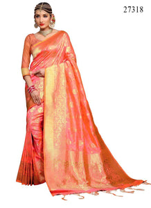 Beautiful  Colour Soft Silk Designer Saree UK30070
