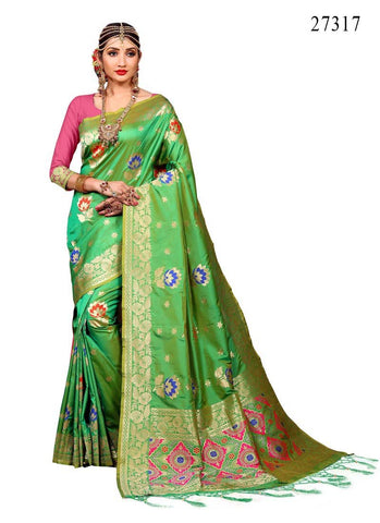 Awosome Colour Soft Silk Designer Saree UK30073