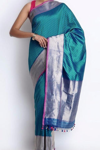 Beautiful Colour Soft Silk Designer Saree UK30084