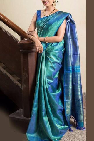 Beautiful Colour Soft Silk Designer Saree UK30087