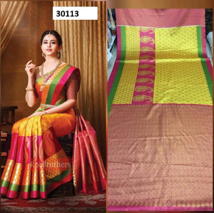 yellow Colour Soft Silk Designer Saree UK30113
