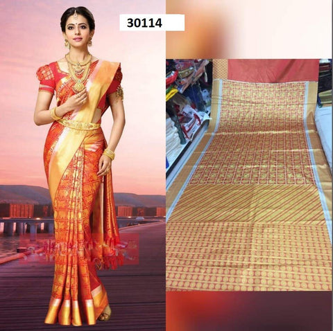 Beautiful Colour Soft Silk Designer Saree UK30114