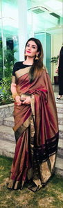 Beautiful Colour Soft Silk Designer Saree UK30117