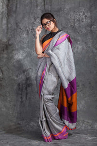 Beautiful Colour Soft Silk Designer Saree UK30124