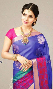 Blue Colour Soft Silk Designer Saree UK30141