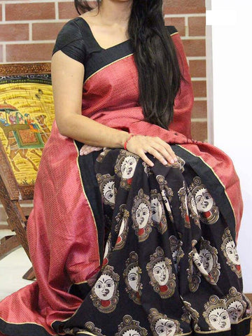 Black Colour Soft Silk Designer Saree UK30145