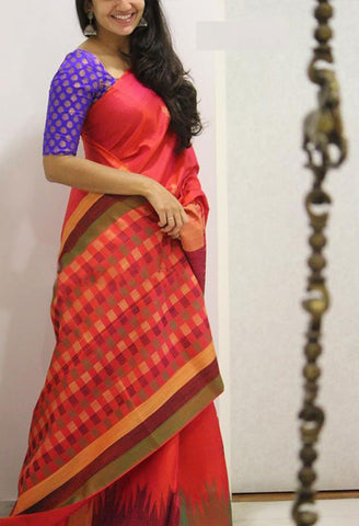 Beautiful Colour Soft Silk Designer Saree UK30146