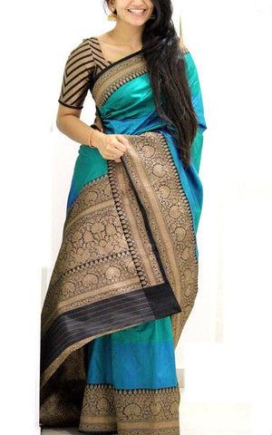Beautiful Colour Soft Silk Designer Saree UK30151