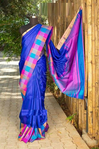Blue Colour Soft Silk Designer Saree UK30156