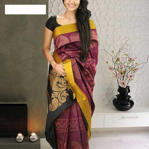 Beautiful Colour Soft Silk Designer Saree UK30159