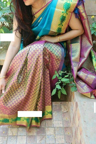 Awesome Colour Soft Silk Designer Saree UK30166