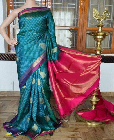 Blue Colour Soft Silk Designer Saree UK30172