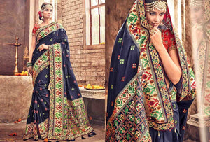 Beautiful Colour Soft Silk Designer Saree UK30193