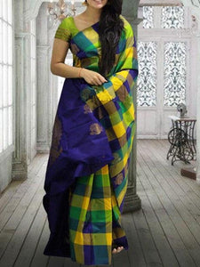Blue Colour Soft Silk Designer Saree UK30196
